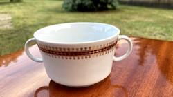 Alföldi csésze ritka kétfülű bögre nagyon mutatós leveses teás