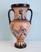 Görög jelenetes váza, amfóra