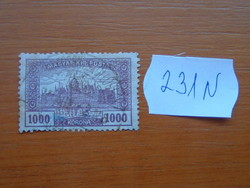 MAGYAR KIR. POSTA 1000 KORONA 1920-24 Parlament  231N