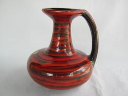 Iparművész kerámia retro kancsó váza