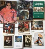10 darab művészeti könyv- könyvcsomag