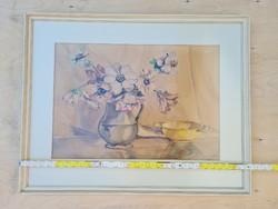 """""""A. D.E. BOER"""" Asztali csendélet festmény (1777)"""