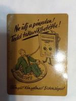 Régi lemez kártyanaptár  1953
