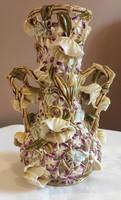 Zsolnay mályva virágos váza
