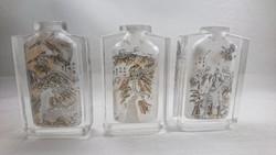 3 db XX század eleji belül festett távolkeleti(valószínűleg kínai) parfümös üvegek