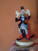Nagyon antik majolika bohóc a hétmérföldes csizmában szerintem Francia Robj lehet