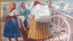 Pallya carolus olaj fa festmeny