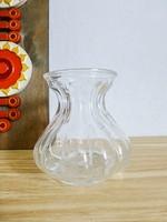 Retro,vintage üveg hagyma váza,gerezdes váza