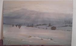 Szignált olaj festmény
