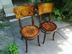 Restaurált Antik Intarziás Debreceni Thonet székek Párban!
