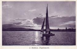 Ba 152 Körkép a Balaton vidékről a XX.század közepén .Naplemente