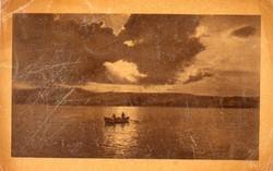 Ba 168 Körkép a Balaton vidékről  Naplemente csónakkal