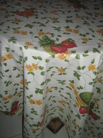Vintage stílusú különleges virágos gyümölcsös hatalmas vidám terítő