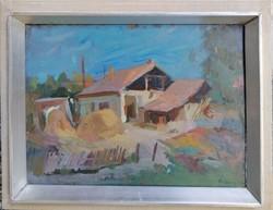 Lajos Áron Nagy (1913-1987) / Zagyvaparti tabán c. His painting has an original guarantee