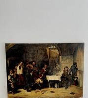 Munkácsy Mihály siralomház utáni lenyűgöző másolata  (1844-1940) hatalmas monumentális festmény !