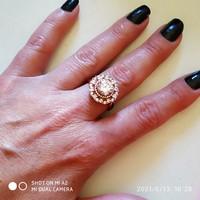 Heng Ngai rosé ezüst gyűrű /62/