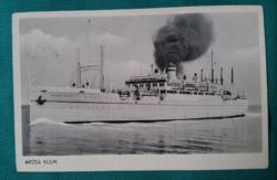 Arosa Kulm hajó,fekete-fehér,használt képeslap, 1953