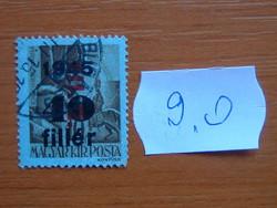 """MAGYAR KIR. POSTA 1945 Felülnyomta """"1945""""  9.O"""