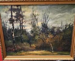 Határ János (Fadd, 1924 - 2000, Szilasliget) Tájkép fákkal