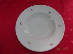 Drasche porcelán,apró virágos mélytányér, átmérője 24 cm.