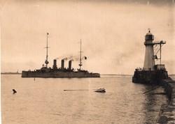 Fekete-tenger, hadihajó, világító torony, ritka,11x8 cm