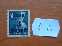 """MAGYAR KIR. POSTA 1945 Felülnyomta """"1945""""  5.O"""