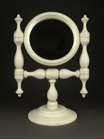 1E983 Fehér színű billenős borotválkozó tükör pipere tükör