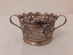 Csodálatos niellós 875-ös ezüst szovjet bonbonier, kínáló