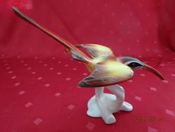 Aquincum porcelán figurális szobor, nagy csőrű madár, magassága 12 cm.