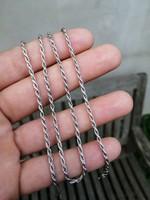 Csavart vastag ezüst nyaklánc