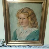 H. Karlovszky Blanka: Fiatal lány portréja