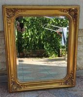Antik 1800 As évek laparany keret tükör ,fakeret, fazettàs-csiszolt tükör, Biedermeier,