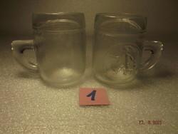 Retro régi gyerek üvegpohár pár  ---1--- típus