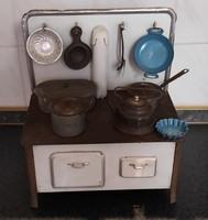 Antik játék konyha zománc