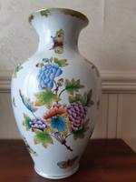 Herendi Viktória mintás váza,extra dús festésű 31 cm