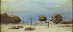 1F018 Magyar festő XX. század : Téli falu