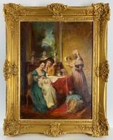 Teljes hagyaték aukción! Rottmann Mozart (1874-1960) olaj,vászon nagy festmény Gyönyörű 1 Ft-ról!