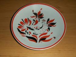 Hollóházi porcelán art deco kakasos falitányér tányér átmérő 15,3 cm (ap)