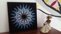 Csillag | Cérnakép | String art | Mandala | Kép | Dekoráció | 3D | Egyedi