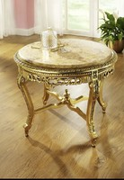 Arany Barokk  Dohányzóasztal márványlappal