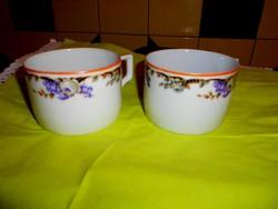 2 db régi Zsolnay csésze együtt