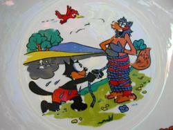 Retro  gyerek, mese tányér Winterling Bavaria Röslau