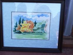Akvarell tájkép