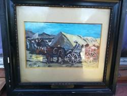 Antik szignált festmény