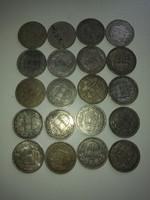 20 db 1 Koronás magyar - nem hulladék ezüst - így nem azon az áron