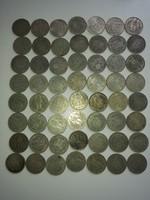 56 db 1 Koronás osztrák - nem hulladék ezüst - így nem azon az áron