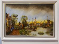 Metzné nagy ilona Flemish landscape with sailboats weekly action4