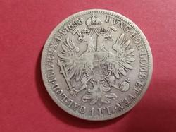 Osztrák-Magyar Monarchia Ferenc József .900 ezüst 1 florin 1858 A