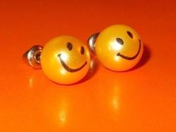 Arany fényű SMILEY Shell Pearl Gyöngy Fülbevaló