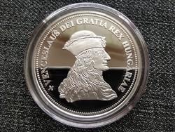 Királyi Koronák Utánveretben Vencel 5 korona .999 ezüst PP (id23495)